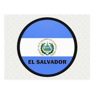 El Salvador Roundel quality Flag Postcard