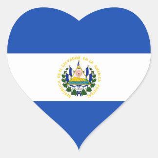 El Salvador – Salvadoran Flag Heart Sticker