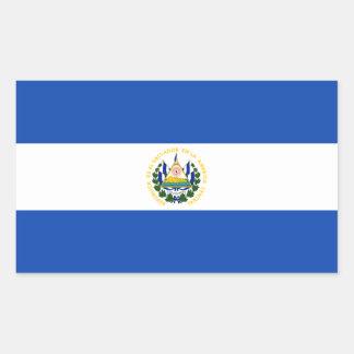 El Salvador – Salvadoran Flag Rectangular Sticker