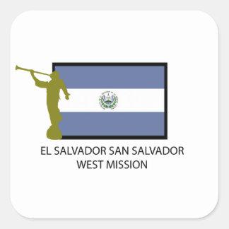EL SALVADOR SAN SALVADOR WEST MISSION LDS CTR SQUARE STICKER