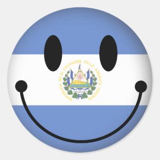El Salvador Smiley Classic Round Sticker