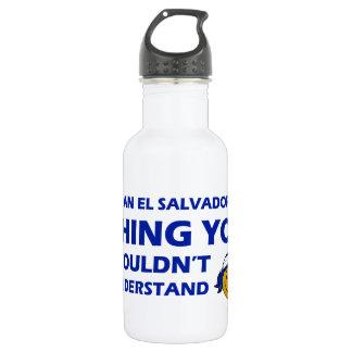 El Salvador Smiley Designs 18oz Water Bottle