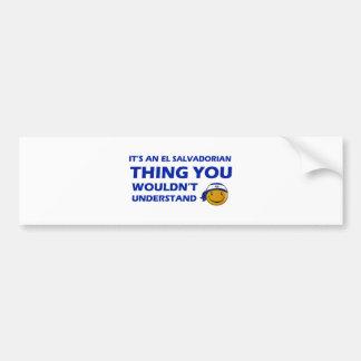 El Salvador Smiley Designs Bumper Sticker