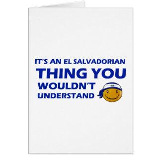El Salvador Smiley Designs Card