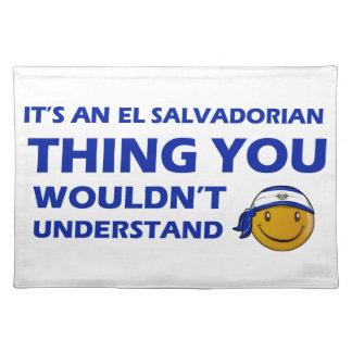 El Salvador Smiley Designs Cloth Placemat