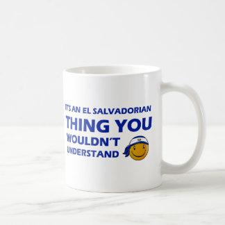 El Salvador Smiley Designs Classic White Coffee Mug