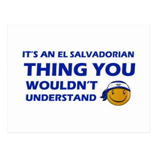 El Salvador Smiley Designs Postcard