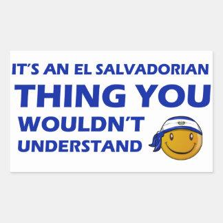 El Salvador Smiley Designs Rectangular Sticker