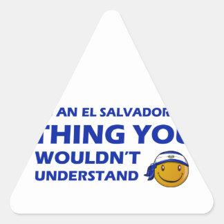 El Salvador Smiley Designs Stickers