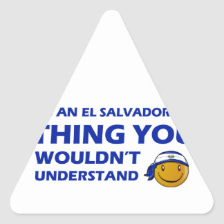 El Salvador Smiley Designs Triangle Sticker