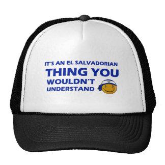 El Salvador Smiley Designs Trucker Hat