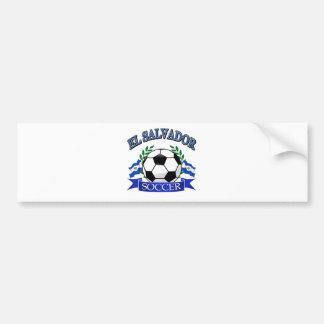 El Salvador soccer ball designs Bumper Sticker