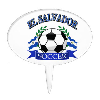 El Salvador soccer ball designs Cake Topper