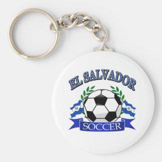 El Salvador soccer ball designs Basic Round Button Keychain