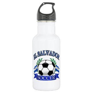 El Salvador soccer ball designs 18oz Water Bottle