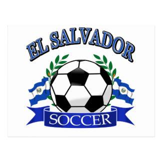 El Salvador soccer ball designs Postcard