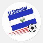 El Salvador Soccer Team Classic Round Sticker