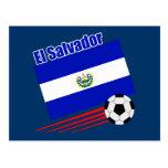 El Salvador Soccer Team Postcard