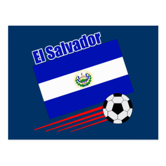 El Salvador Soccer Team Postcard
