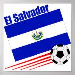El Salvador Soccer Team Print