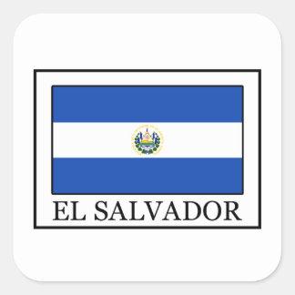 El Salvador Square Sticker