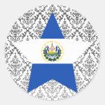 El+Salvador Star Round Sticker