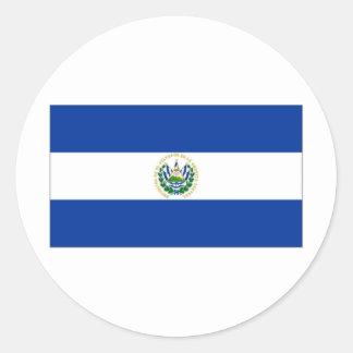 El Salvador State Flag Classic Round Sticker