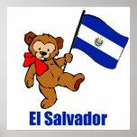 El Salvador Teddy Bear Poster