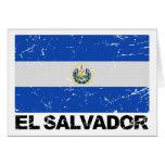 El Salvador Vintage Flag Card