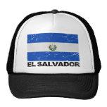 El Salvador Vintage Flag Mesh Hats