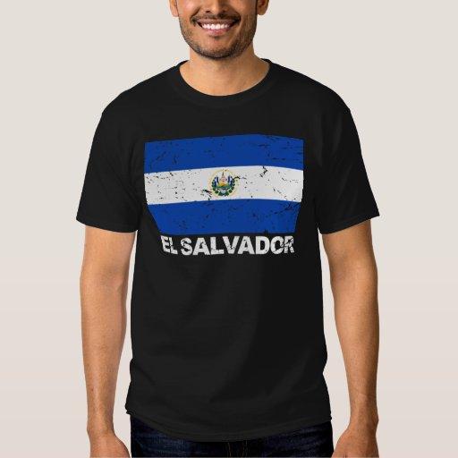 El Salvador Vintage Flag Tee Shirts