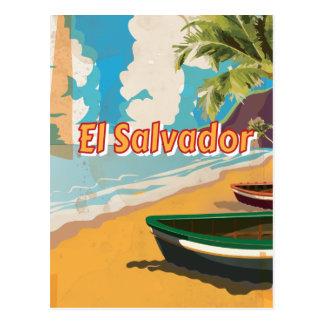 El Salvador  Vintage vacation Poster Postcard