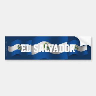 El Salvador Waving Flag Bumper Sticker