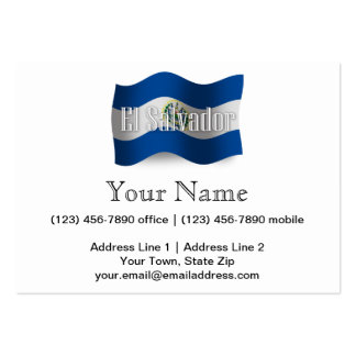 El Salvador Waving Flag Large Business Cards (Pack Of 100)
