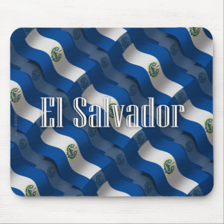 El Salvador Waving Flag Mouse Pad