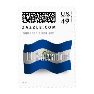 El Salvador Waving Flag Stamps