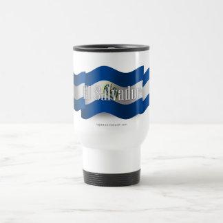 El Salvador Waving Flag Travel Mug