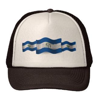 El Salvador Waving Flag Trucker Hat