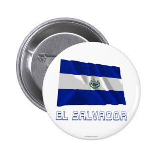 El Salvador Waving Flag with Name Button