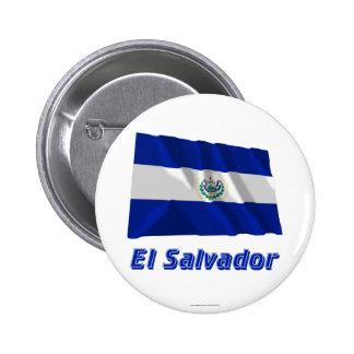 El Salvador Waving Flag with Name Pins