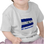 El Salvador Waving Flag with Name Shirt