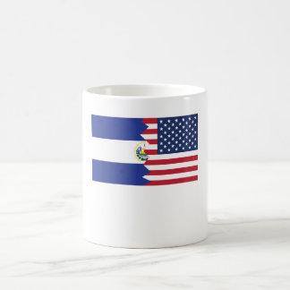 El Salvadorian American Flag Coffee Mug
