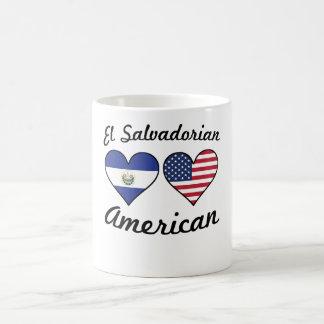 El Salvadorian American Flag Hearts Coffee Mug
