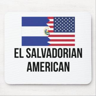 El Salvadorian American Flag Mouse Pad