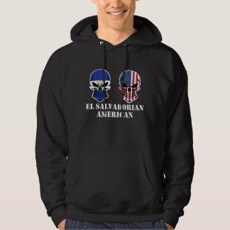 El Salvadorian American Flag Skulls Hoodie