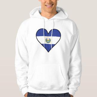 El Salvadorian Flag Heart Hoodie