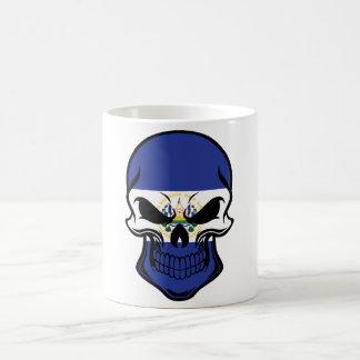 El Salvadorian Flag Skull Coffee Mug