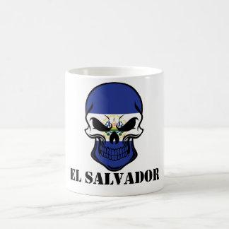 El Salvadorian Flag Skull El Salvador Coffee Mug
