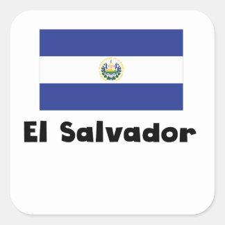 El Salvadorian Flag Square Sticker