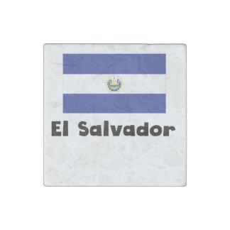 El Salvadorian Flag Stone Magnet